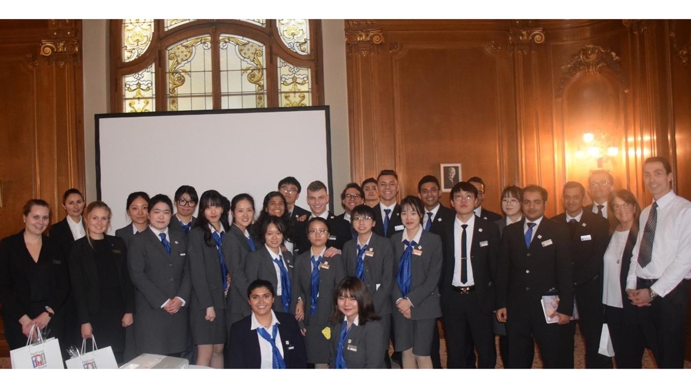 Students from César Ritz Colleges Switzerland visit Fairmont Montreux Palace