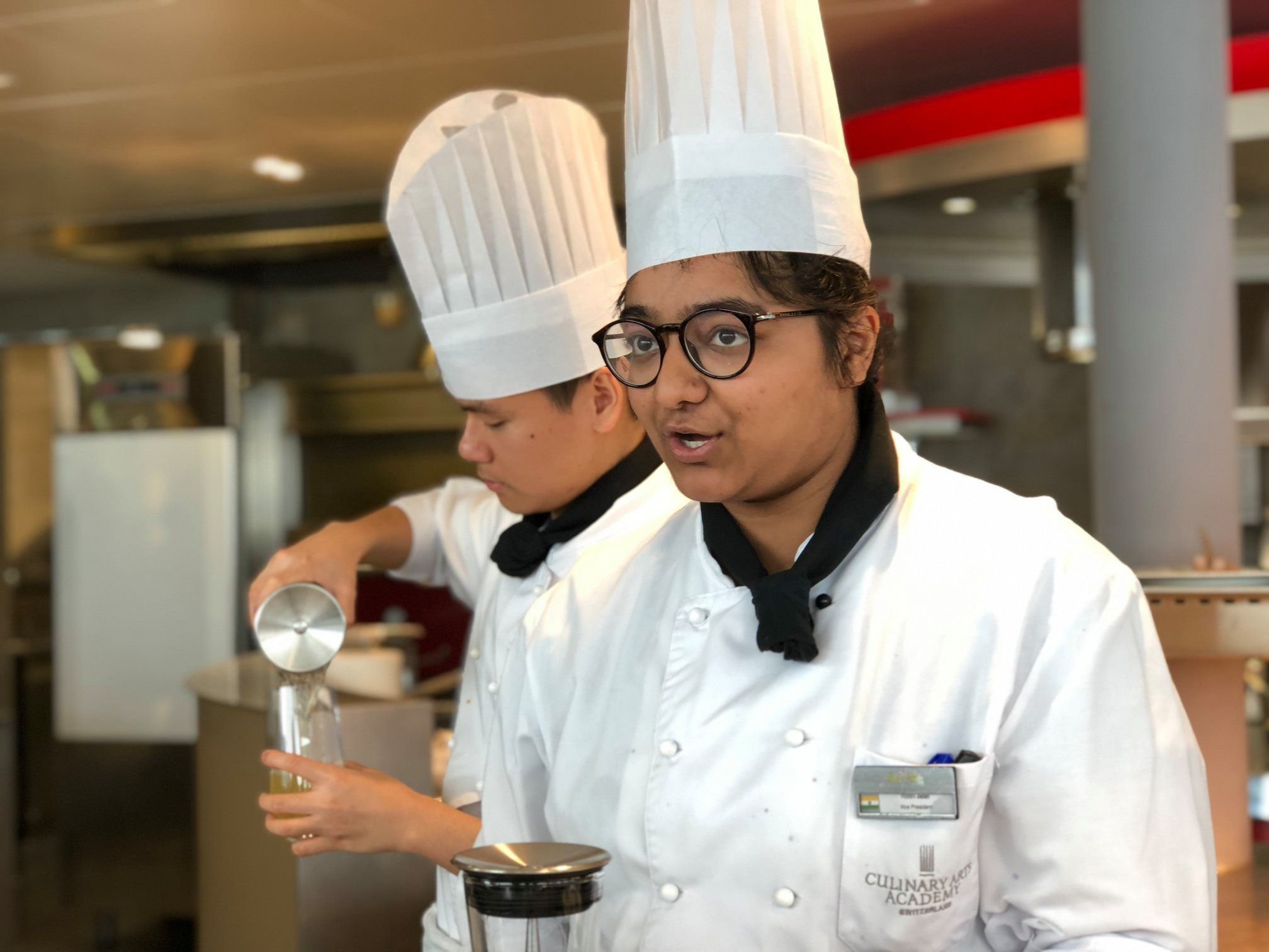 Indian student at Culinary Art Academy